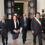 con Anita Garibaldi, Salvatore Italia e Sindaco