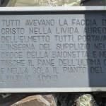 Passo le Selle - Costabella. Scrittariportata sul libro i Caduti di San Severo nella Grande Guerra